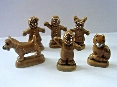 Wade WHIMSIE FULL SET OF GINGERBREAD FAMILY • 19.99£