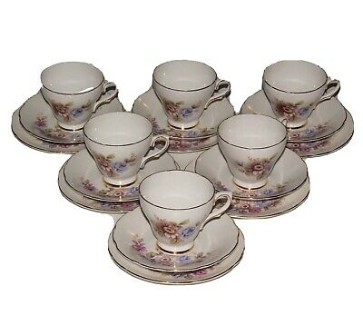 Royal Sutherland China, 6 Cup Saucer Trios. • 22£