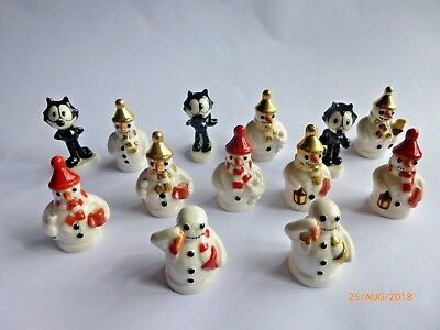 Wade  Various SNOWMAN Whimsies And FELIX  Whimsies  • 5£
