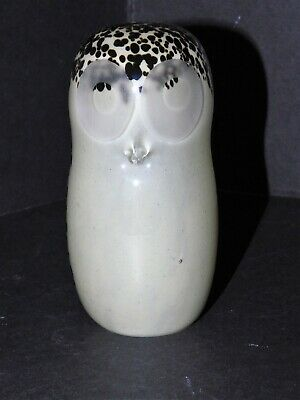 Wedgwood Brown Speckled Glass Owl Paperweight • 35£