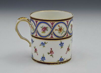 18th Century Sevres Coffee Can Gobelet Litron Marie Jeanne Barbe Bunel • 495£