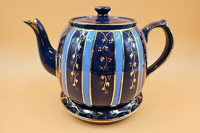 Antique Royal Stanley C & Co (Colclough) Hand Painted Enameled Teapot & Stand. • 75£