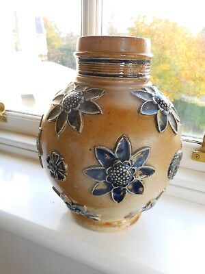 Circa 1869/72 -very Early Doulton Lambeth Bulbous Shaped Vase ~ Awesome • 48£