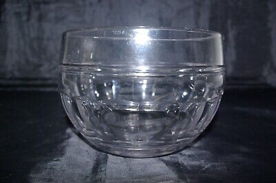 Antique Mid 19th Century Slice Cut Crystal Glass Rinser Finger Bowl • 25£