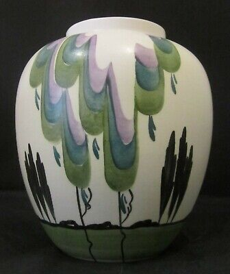 Radford Vase With Handpainted Stylised Trees Design • 40£