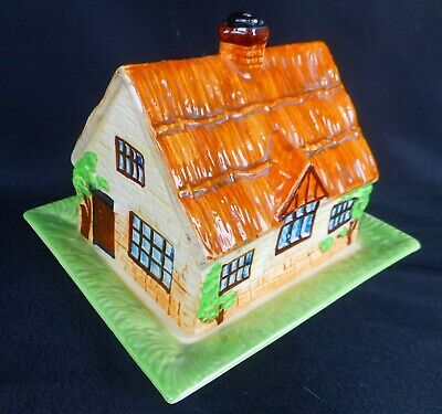Beswick Thatched Cottage Cheese / Butter Dish - Art Deco • 24£