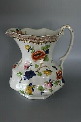 Very Large Hancock & Son Corona Ware Peony Pitcher Or Jug • 50£