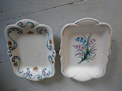 Axe Valley Pottery Vintage Beautiful Hand Painted Display Plates Platters X 2 • 35£