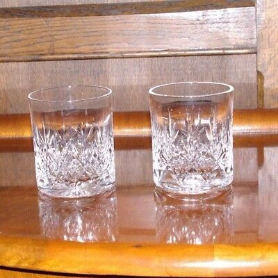 A Pair Of Cut Crystal DOF Whisky Tumblers Spirit & Mixer Glasses  • 15£