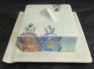 Radford Butter Dish With Hand Painted Floral Design • 30£