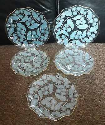 5 Vintage Chance Calypto Wavy Edge Plates By Michael Harris 1959 • 30£