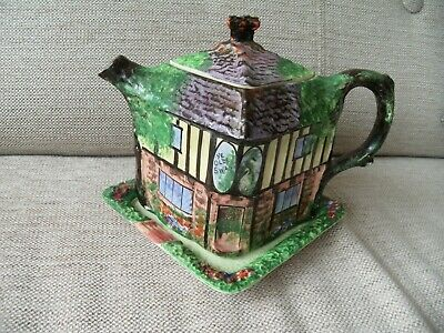 Art Deco Grimwades Ye Olde Swan Inne Teapot With Square Plate Pat. No. 301262 • 22£