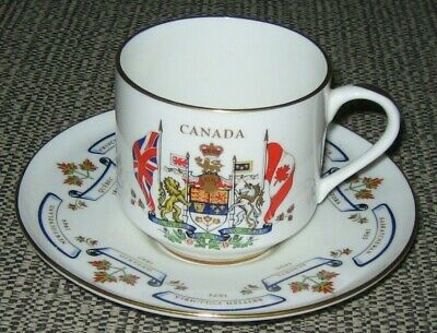 Aynsley Cup And Saucer To Commemorate The Confederation Of Canada 1867 • 10£