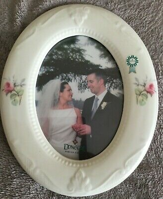 Donegal Parian China Oval Photo Frame - Donegal Rose Pattern • 19.99£
