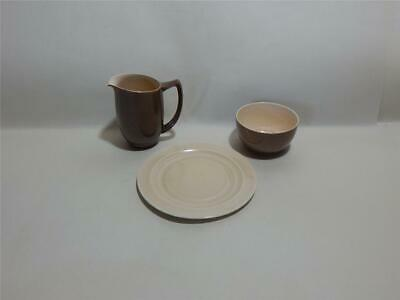 Branksome Graceline Coffee Creamer, Sugar Bowl & Small Plate. Coffee & Cream, • 14.97£