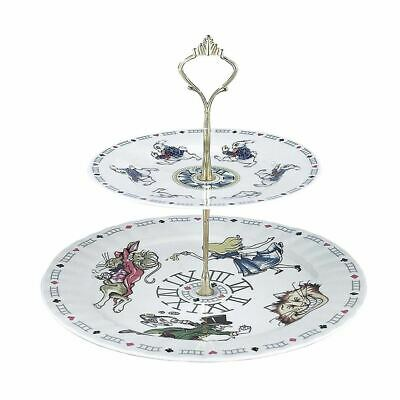 Alice In Wonderland 2 Tiered Collectable Cake Stand - Boxed Cardew • 39.99£