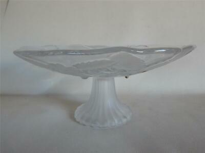 Beautiful Vintage Glass Tazza. Grapes And Strawberries. Fruit Bowl Apprx 4  Tall • 11.97£
