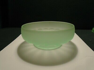 Bagley 'Queens Choice' Frosted Green Glass Bowl  • 15£