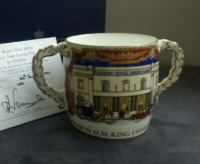 Coalport Commemorative Loving Cup 1977 Jubilee Theatrical Fund Drury Lane Boxed • 45£