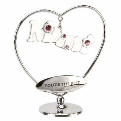 Mum Gift - Crystocraft Swarovski Crystal Elements -  Mum You're The Best  SP553 • 7.99£