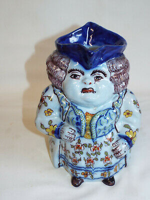 Vintage Or Antique French Desvres Faience Toby Jug. • 99£