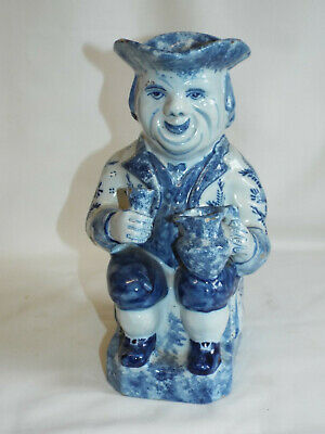 Large Antique Delft Or Faience Toby Jug. Makers Mark. • 150£