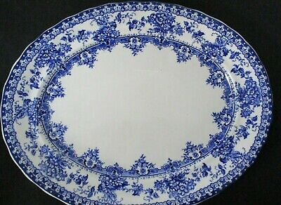 Antique Keeling & Co Later Mayers Blue & White 13 1/2  Serving Platter • 19.99£
