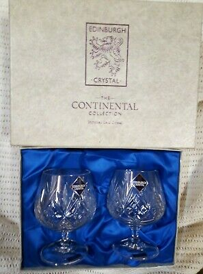 Edinburgh Crystal The Continental Collection Brandy Glasses • 15£