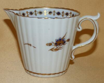 Caughley Blue & Gold Floral Sprigs Jug C1785-90 • 50£