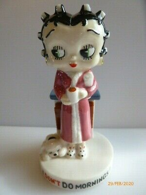 Wade Betty Boop I Dont Do Mornings Purple Dressing Gown 4 Inches High Sale • 15£