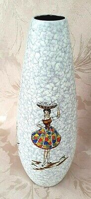 Vintage, 1950's, Marzi & Remy, West German, Art Pottery Vase, Jamaican Design • 20£