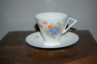 A Fine Antique Shelley Eve Shape Tea Cup & Saucer  • 45£