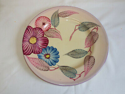 Large 10.5  Grays Pottery Handpainted Art Deco Plate. • 45£