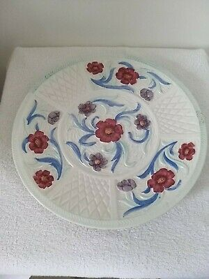 A Vintage Hand Painted Jacobean Charge Plate By H J Wood. (2598) • 30£