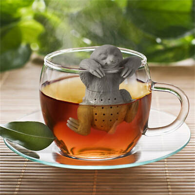 Cute Sloth Shaped Food Grade Silicone Tea Strainers Gray • 6.51£