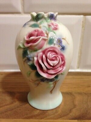 Franz Porcelain Pink Rose Small Vase Exclusively Made For Royal Doulton • 12.99£