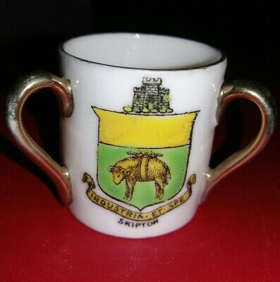 Crested China - SKIPTON - 3 Handled Cup - Gemma • 2.99£