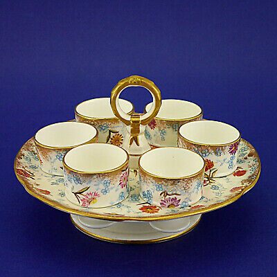 Vintage Hammersley & Co. China Six Egg Cup & Stand Set (1912-39)11.5cm/4.5  High • 39.99£