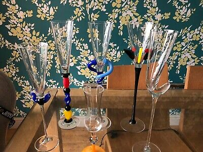 Rosenthal Champagne Flutes X 6 - Limited Edition And Signed Studiolinie • 250£