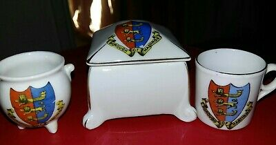Crested China -Borough Of Hastings X3  • 7.99£