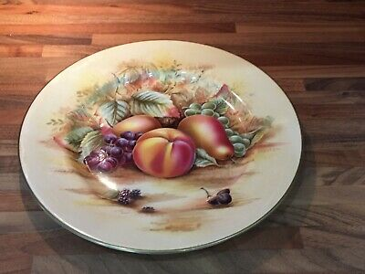 """Aynsley Orchard Gold 27cm 10.5"""" Plate • 10£"""