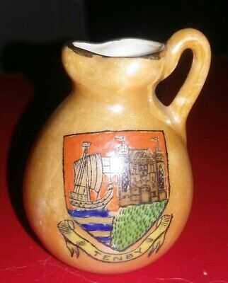 Crested China - TENBY - Jug - Wilton China • 2.99£