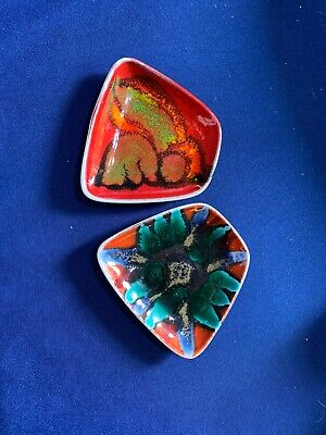 2 Small Poole Delphis Pin Dishes • 15£