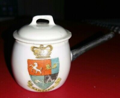 Gemma - Crested China - Ramsgate - Pan With Lid • 2.99£