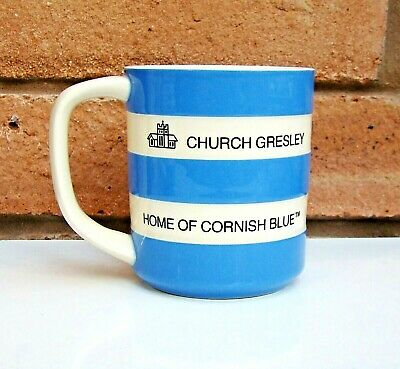 TG Green CORNISHWARE Special Edition CHURCH GRESLEY HOME OF CORNISH BLUE Mug 04  • 20£
