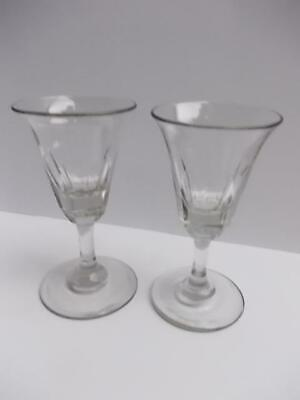 483 / Beautiful Pair Of Early 19th Century Hand Blown Drinking Glasses • 14.99£