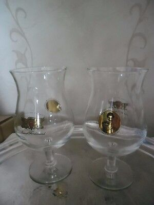 Vintage Pair Charles & Diana Wedding Saint Ferdinand Beer Glasses • 2.50£