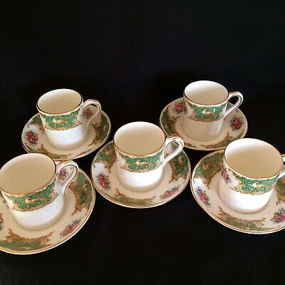 Vintage Foley China Montrose  5x Coffee Can & Saucer Set • 23£