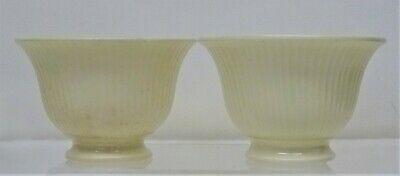 Pair Early 19thC Georgian CREAMWARE Small BOWLS, Teabowls? Salts? Miniatures? • 22£