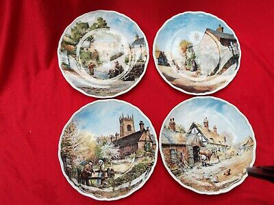 Royal Doulton  Village Life  Four Collector Plates By Anthony Forster • 7.99£